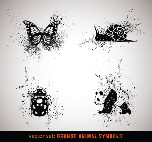 Grungy  Animals  Symbols