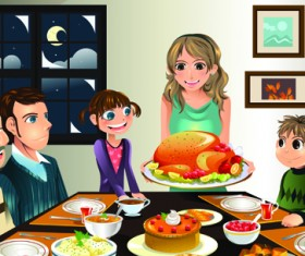Vector Happy family together design elements 03