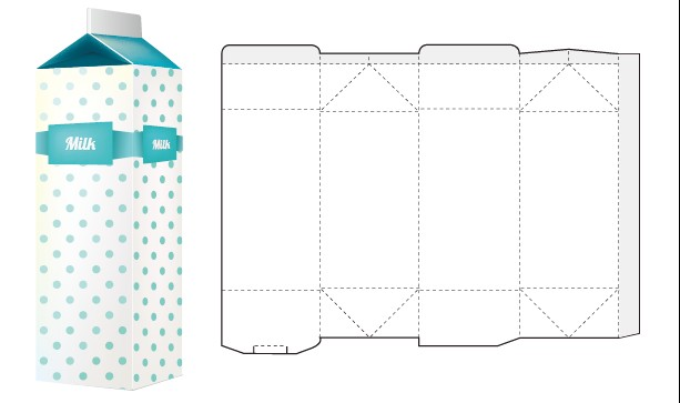 Box packaging template vector 04 - Vector Cover free download