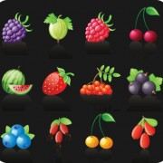Link toIcons different fruits vector