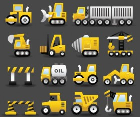 Set of Icons transportation vector 01