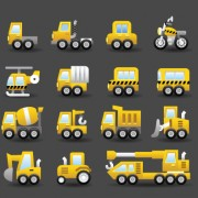 Link toSet of icons transportation vector 02
