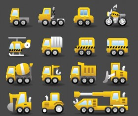 Set of Icons transportation vector 02