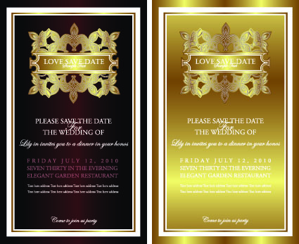 Invitation gold card design vector graphics 02 free download invitation gold card design vector graphics 02 stopboris Choice Image