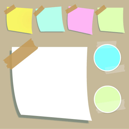 Vector set of Isolated tattered notebook paper 03