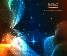 Dynamic Light backgrounds art vector set 03