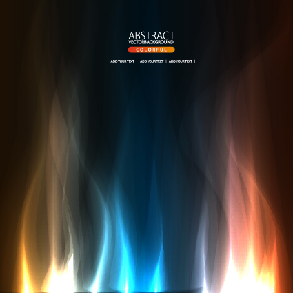 Dynamic Light backgrounds art vector set 04