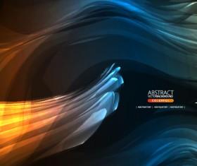 Dynamic Light backgrounds art vector set 05