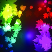 Link toNeon lights with maple leaves design vector 02