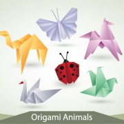 Link toVarious origami animals design vector material 04
