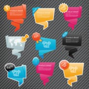 Link toOrigami speech bubbles vector