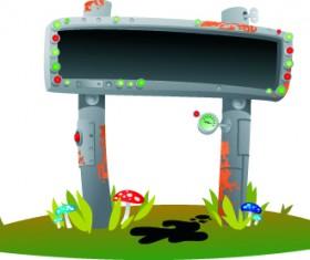 Vector Outdoor advertising design elements set 03