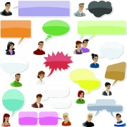 Link toPeople with speech bubbles design elements 01