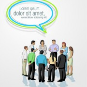 Link toPeople wit speech bubbles design elements 05