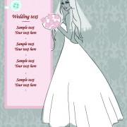 Link toRomantic postcard wedding vector art 02