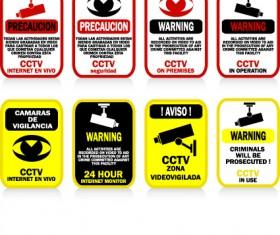 Different Prevention symbols vector set 01