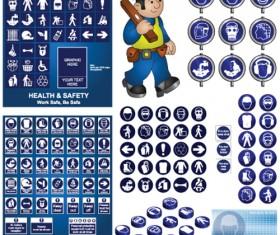 Different Prevention symbols vector set 02