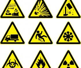 Different Prevention symbols vector set 03