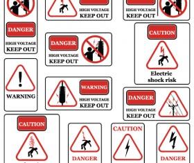 Different Prevention symbols vector set 04