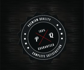 Quality and guaranteed black label design elements 01