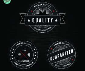 Quality and guaranteed black label design elements 02