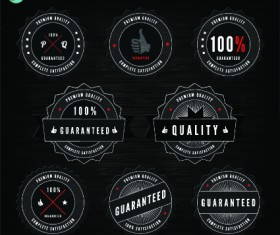 Quality and guaranteed black label design elements 03