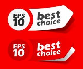 Best of Red sticker design vector 01