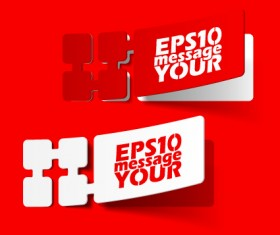 Best of Red sticker design vector 02
