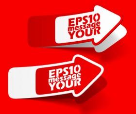 Best of Red sticker design vector 03