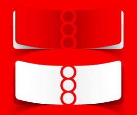 Best of Red sticker design vector 05