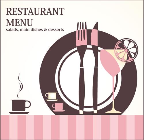 Retro Restaurant Menu cover design art vector 05 free download