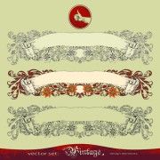 Link toRetro decorative frames with borders vector art 01