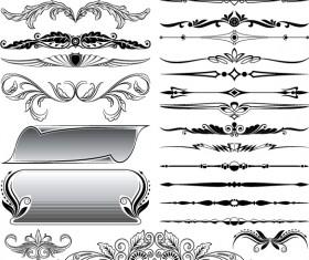 Ornaments elements vector border graphic 01