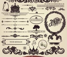 Ornaments elements vector border graphic 02