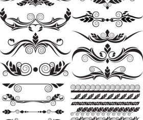 Ornaments elements vector border graphic 03