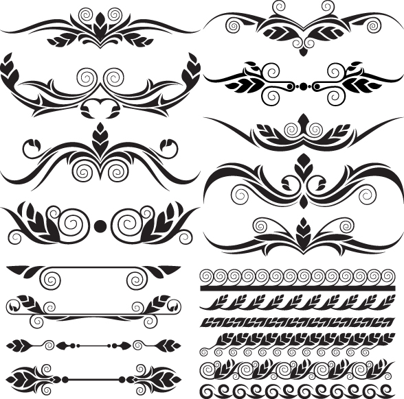 Ornaments elements vector border graphic 03 - Vector ...
