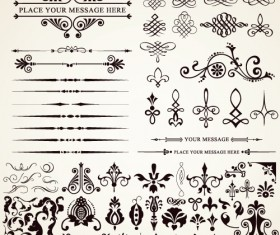 Ornaments elements vector border graphic 04