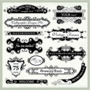 Link toVintage frames with ornaments design elements vector 05