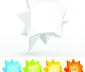Crumpled paper for speech Bubbles vector 04