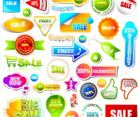 Sale discount tag design elements vector 01