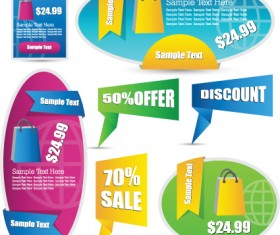 Sale discount tag design elements vector 02