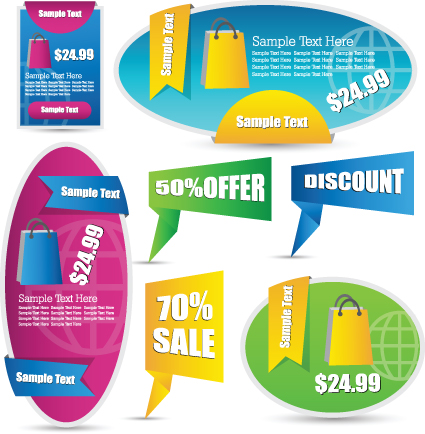 Sale discount tag design elements vector 02 - Vector Label free ...