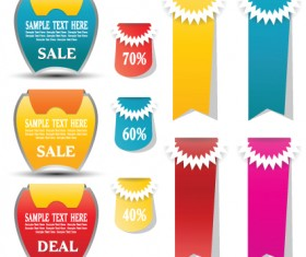 Sale discount tag design elements vector 05
