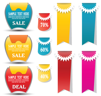 Sale discount tag design elements vector 05 - Vector Label free ...