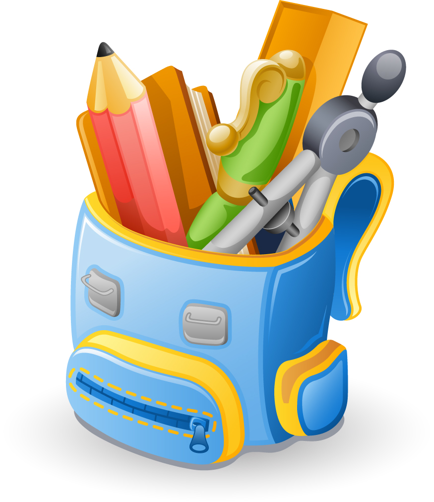 Objects School supplies design vector 02