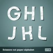 Link toVector scissors cut paper alphabet art 02