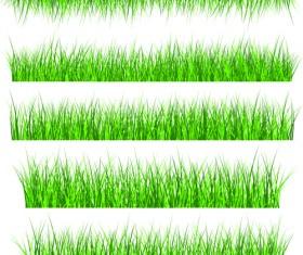 Vector Green Grass Elements set 01