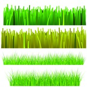 Link toVector green grass elements set 03
