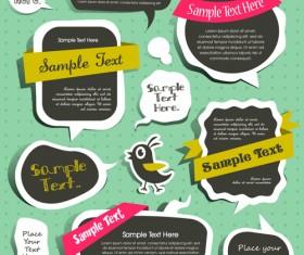Cute Speech Bubbles for you text vector 10