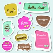 Link toCute speech bubbles for you text vector 08